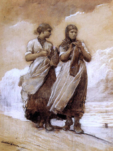 Fishergirls on Shore, Tynemouth