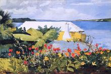 A Flower Garden and Bungalow, Bermuda