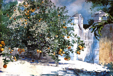 Orange Tree, Nassau (also known as Orange Trees and Gate) - Winslow Homer