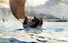 A Fishing Boat Returning