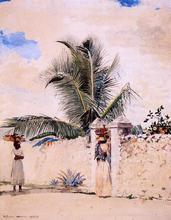 The Garden Gate - Winslow Homer